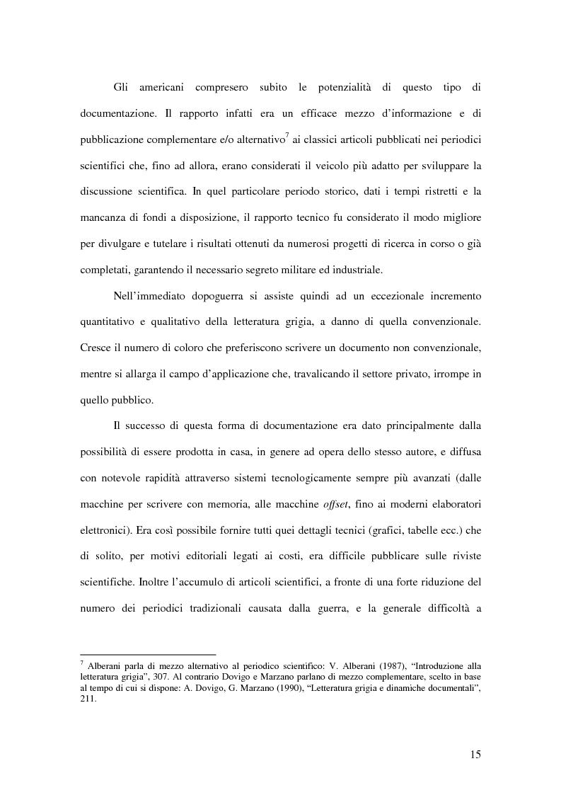 Anteprima della tesi: La letteratura ''grigia'' di fonte amministrativa, Pagina 12