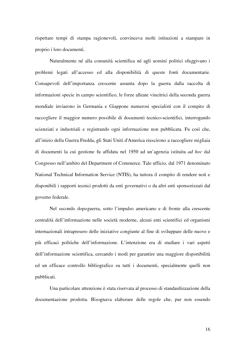 Anteprima della tesi: La letteratura ''grigia'' di fonte amministrativa, Pagina 13