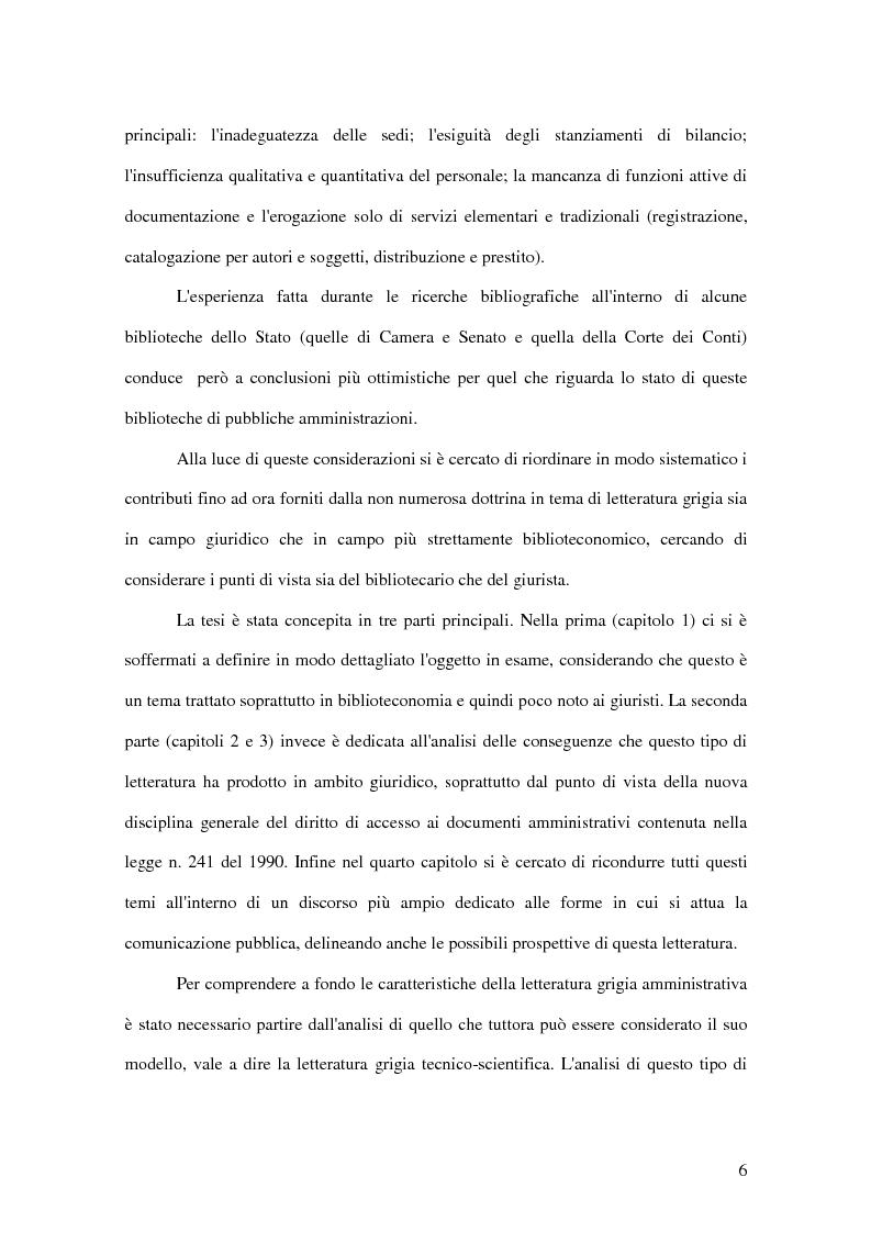 Anteprima della tesi: La letteratura ''grigia'' di fonte amministrativa, Pagina 3