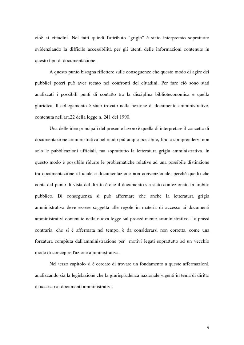 Anteprima della tesi: La letteratura ''grigia'' di fonte amministrativa, Pagina 6