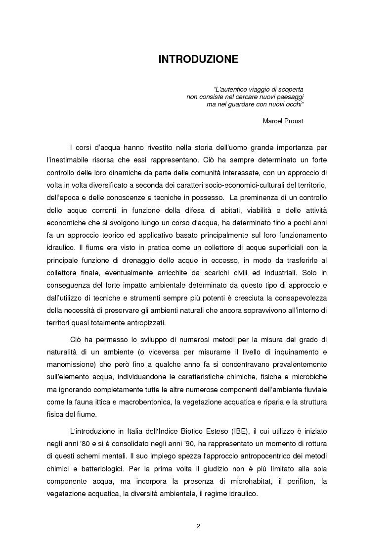 Anteprima della tesi: Applicazione dell'Indice di Funzionalità Fluviale nel fiume Fella e nel torrente Bartolo (Friuli Venezia Giulia), Pagina 1