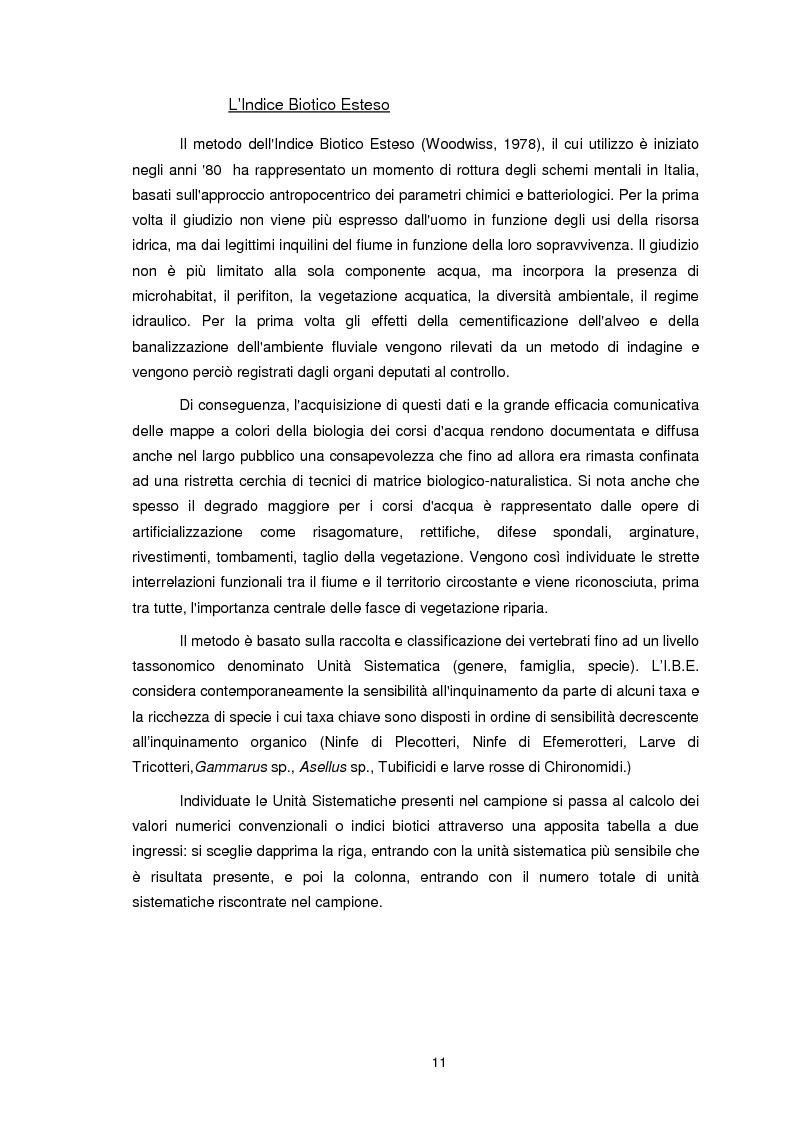 Anteprima della tesi: Applicazione dell'Indice di Funzionalità Fluviale nel fiume Fella e nel torrente Bartolo (Friuli Venezia Giulia), Pagina 10