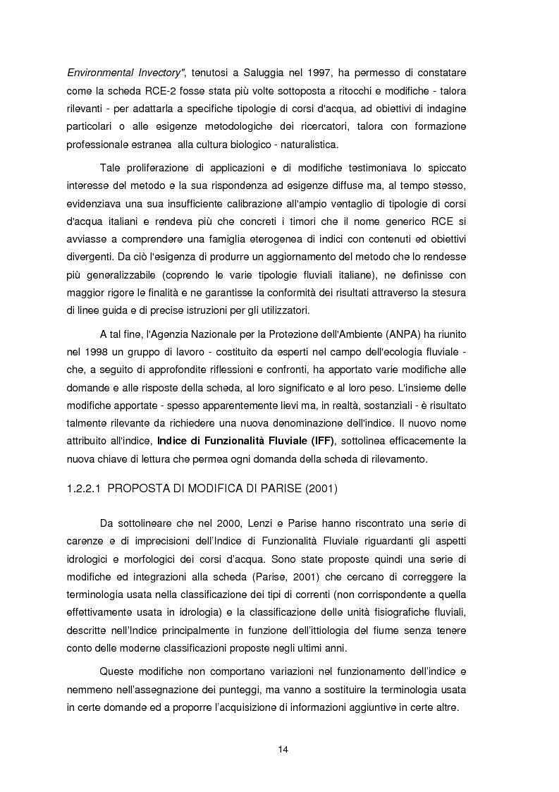 Anteprima della tesi: Applicazione dell'Indice di Funzionalità Fluviale nel fiume Fella e nel torrente Bartolo (Friuli Venezia Giulia), Pagina 13