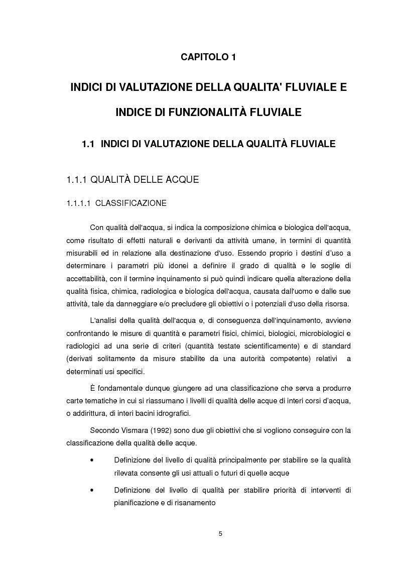 Anteprima della tesi: Applicazione dell'Indice di Funzionalità Fluviale nel fiume Fella e nel torrente Bartolo (Friuli Venezia Giulia), Pagina 4