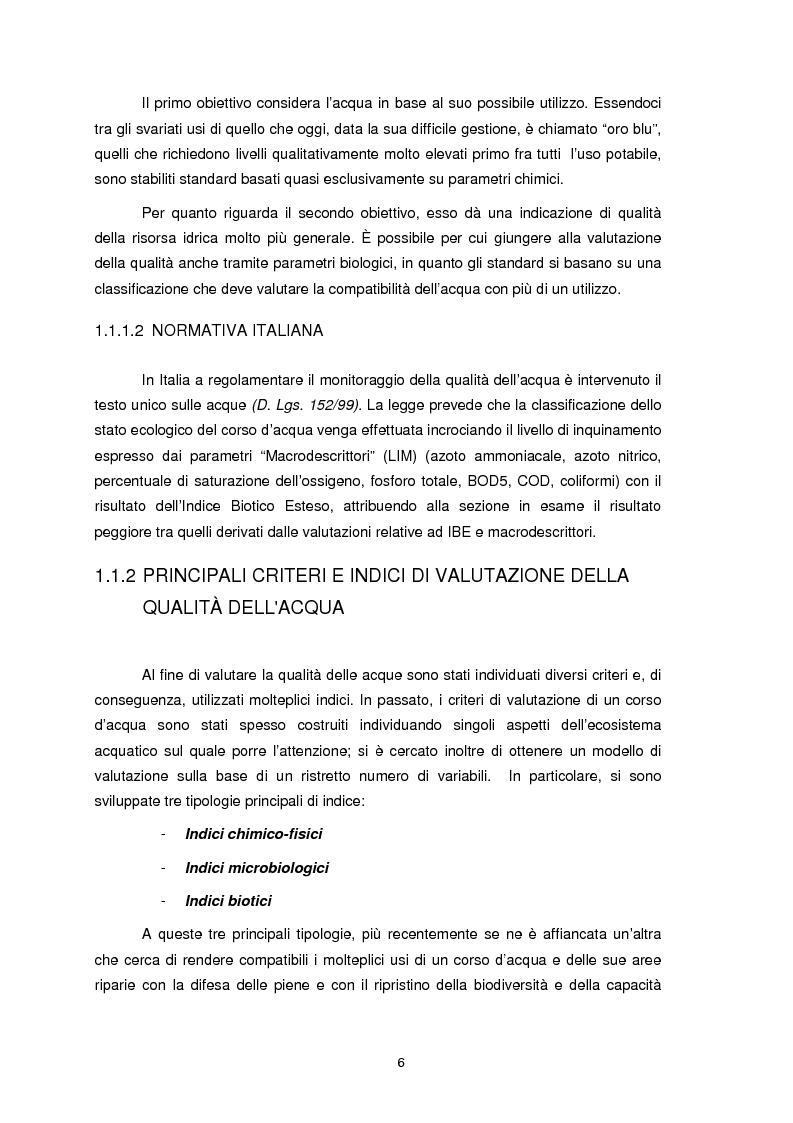 Anteprima della tesi: Applicazione dell'Indice di Funzionalità Fluviale nel fiume Fella e nel torrente Bartolo (Friuli Venezia Giulia), Pagina 5