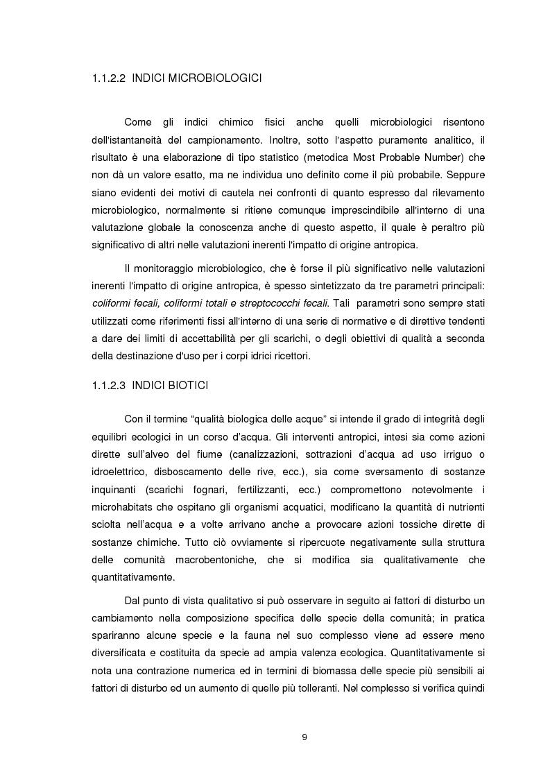 Anteprima della tesi: Applicazione dell'Indice di Funzionalità Fluviale nel fiume Fella e nel torrente Bartolo (Friuli Venezia Giulia), Pagina 8
