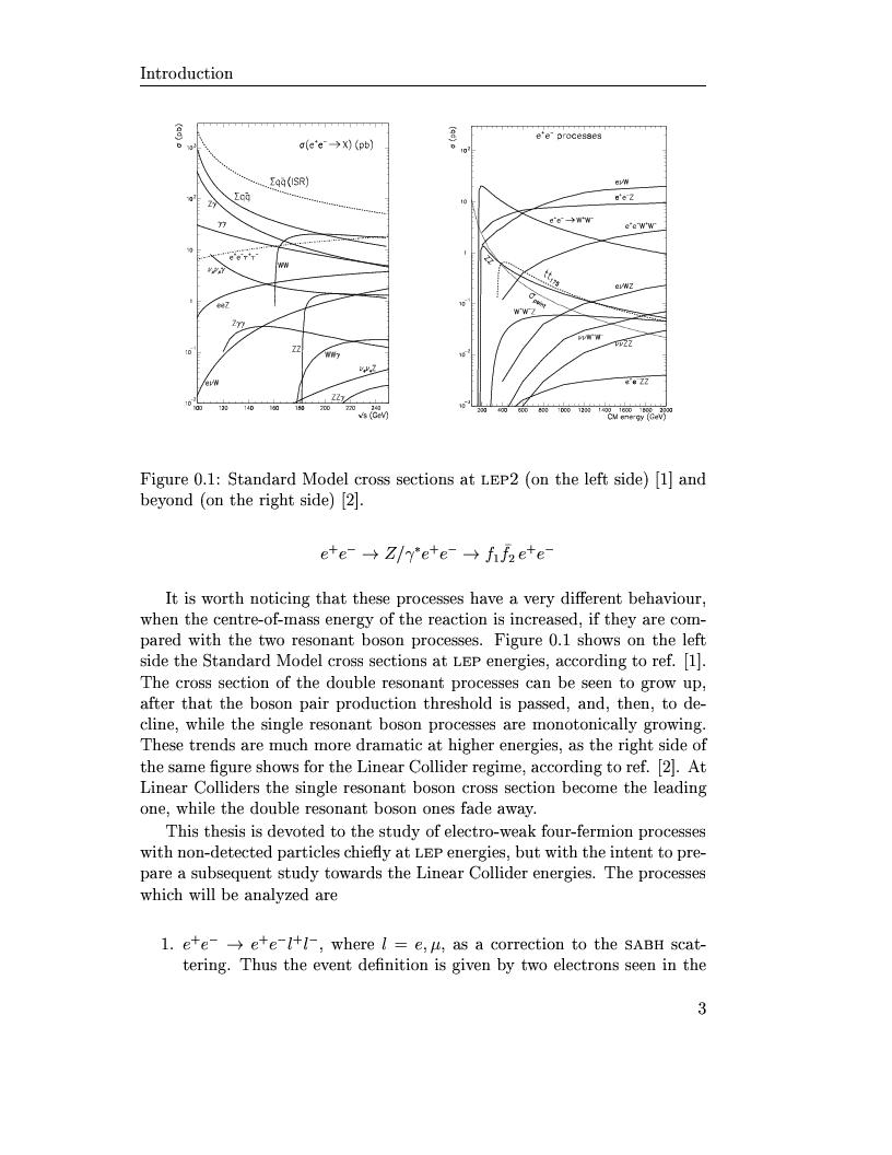 Anteprima della tesi: Electro-weak physics with forward dynamics at LEP, Pagina 4