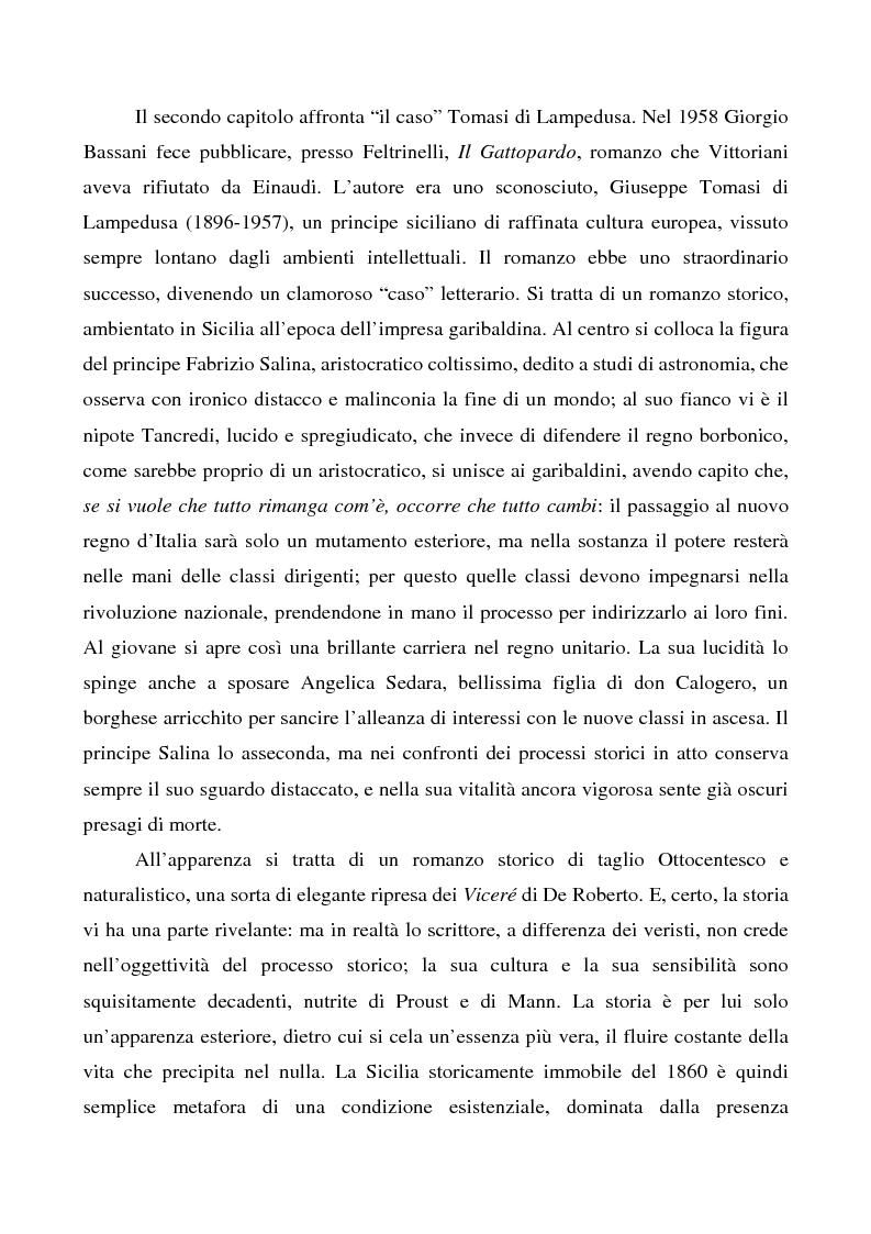 Anteprima della tesi: Il ''caso'' Tomasi di Lampedusa, Pagina 2