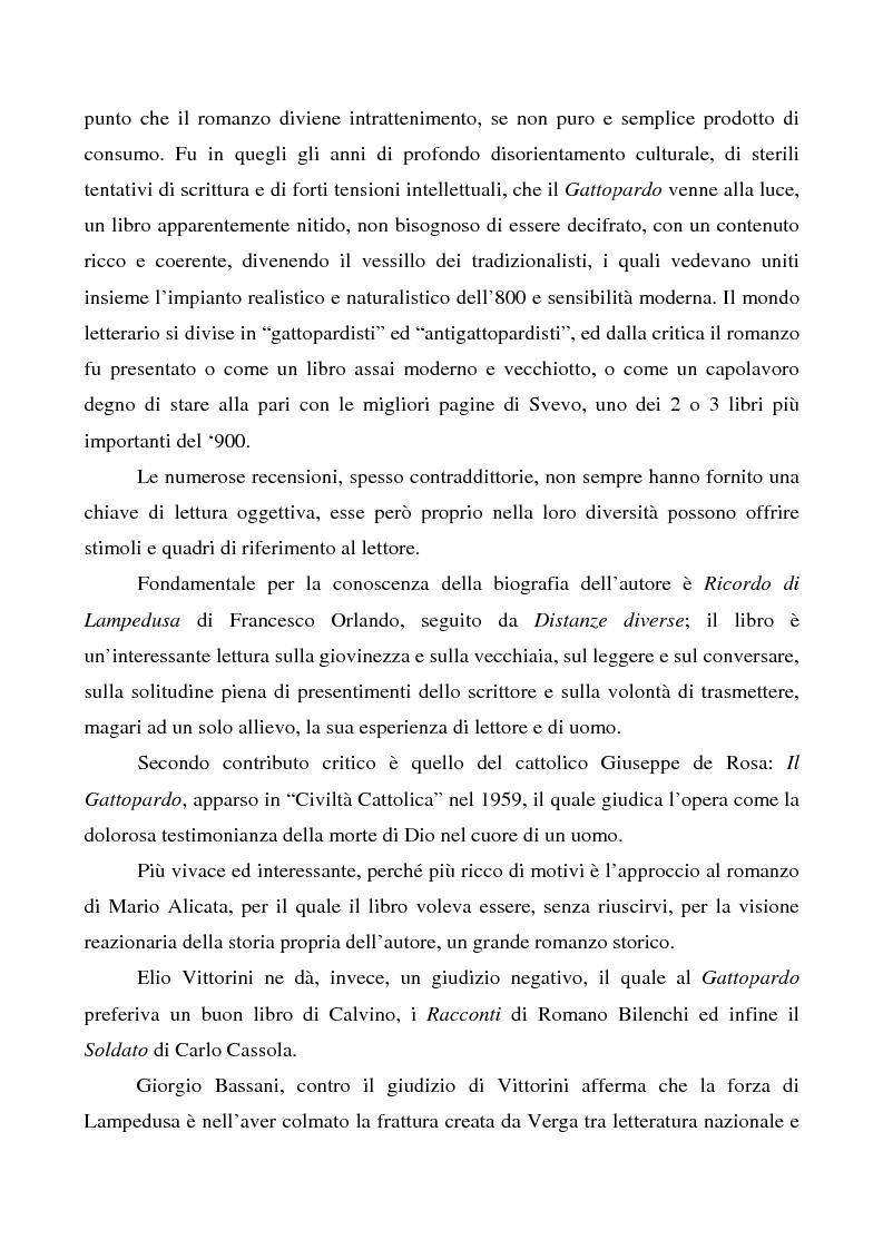 Anteprima della tesi: Il ''caso'' Tomasi di Lampedusa, Pagina 4