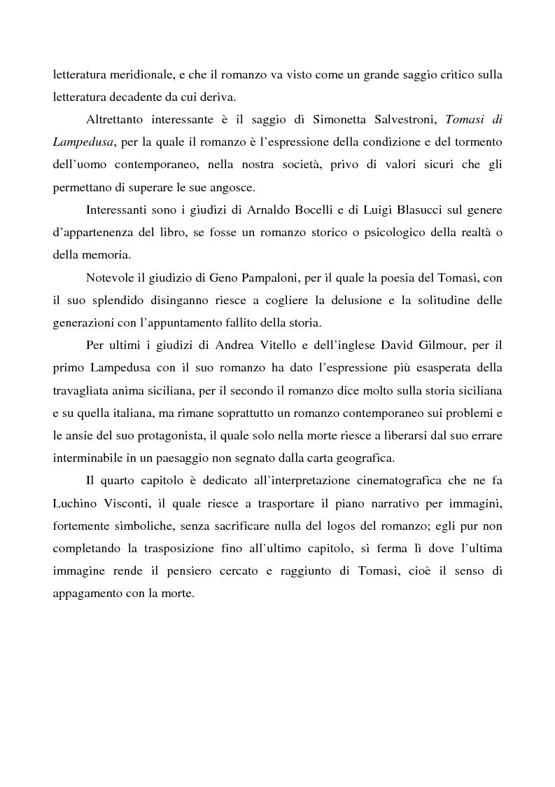 Anteprima della tesi: Il ''caso'' Tomasi di Lampedusa, Pagina 5