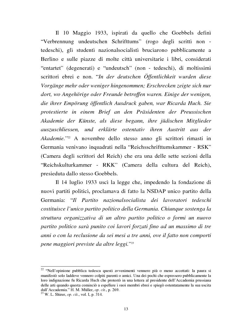 Anteprima della tesi: Joseph Goebbels: modelli e forme di propaganda nel Terzo Reich, Pagina 14