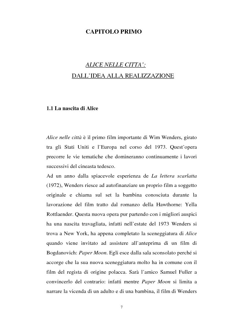 Anteprima della tesi: Alice nelle città, Pagina 1