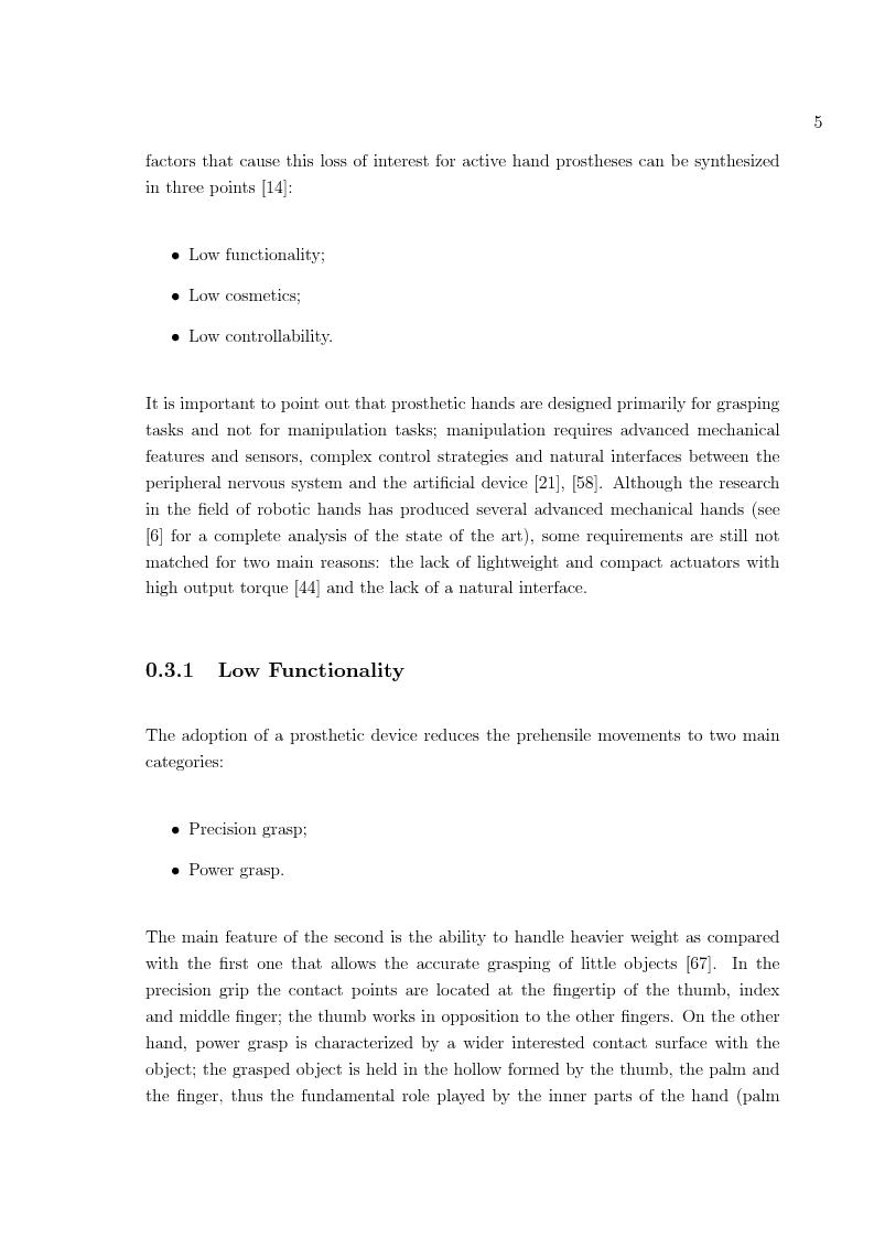 Anteprima della tesi: Hand prosthesis design: Enhancing grasping capabilities through mechanical features, Pagina 5