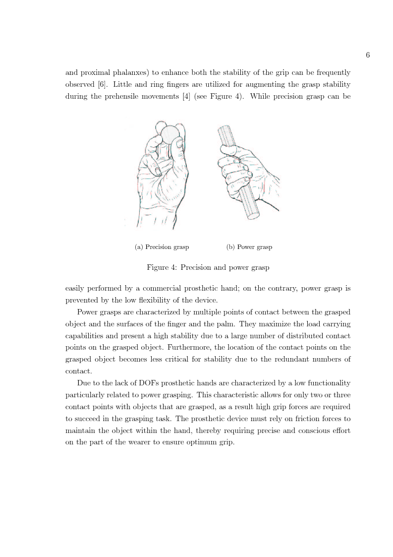 Anteprima della tesi: Hand prosthesis design: Enhancing grasping capabilities through mechanical features, Pagina 6