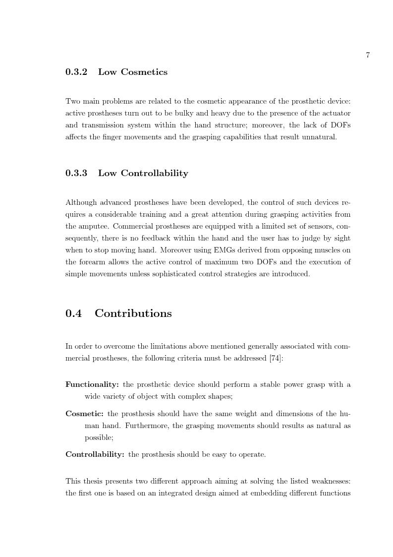 Anteprima della tesi: Hand prosthesis design: Enhancing grasping capabilities through mechanical features, Pagina 7