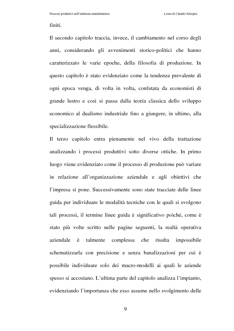 Anteprima della tesi: Processi produttivi nell'industria manifatturiera. Caso aziendale sistemi frenanti Bosch S.p.a., Pagina 2