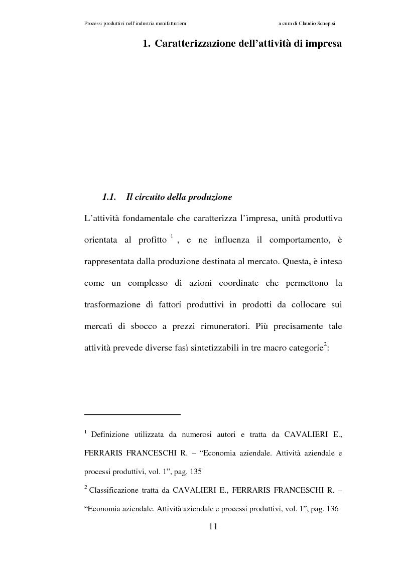 Anteprima della tesi: Processi produttivi nell'industria manifatturiera. Caso aziendale sistemi frenanti Bosch S.p.a., Pagina 4