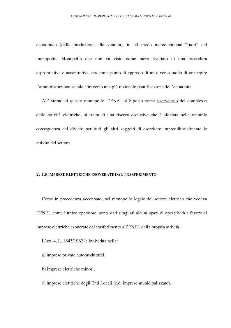 Anteprima della tesi: La liberalizzazione del settore elettrico, Pagina 10