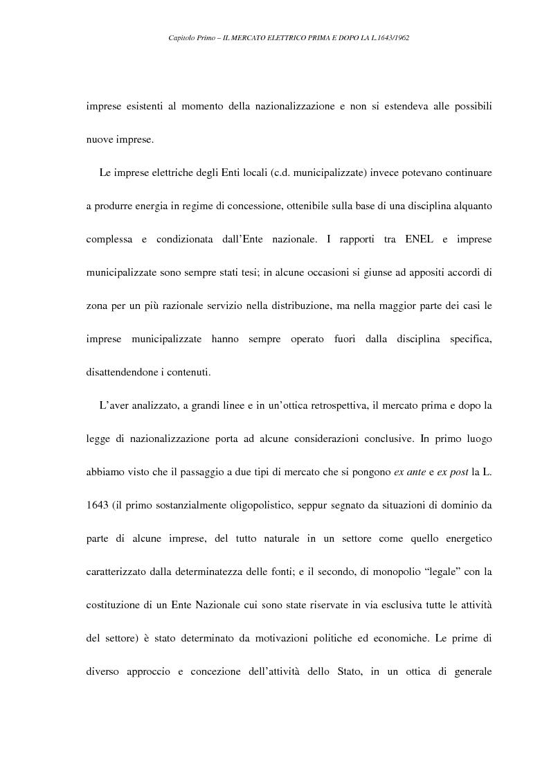 Anteprima della tesi: La liberalizzazione del settore elettrico, Pagina 14