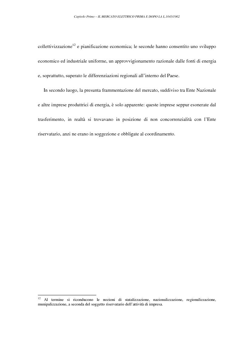 Anteprima della tesi: La liberalizzazione del settore elettrico, Pagina 15