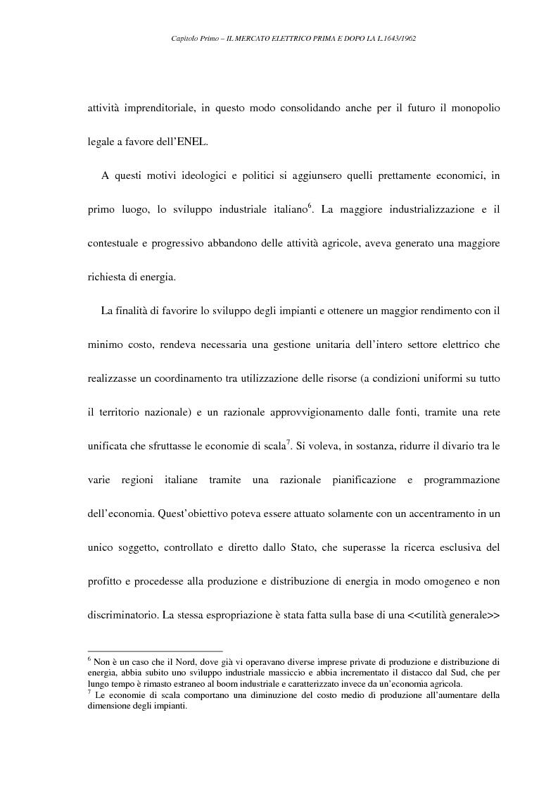 Anteprima della tesi: La liberalizzazione del settore elettrico, Pagina 8