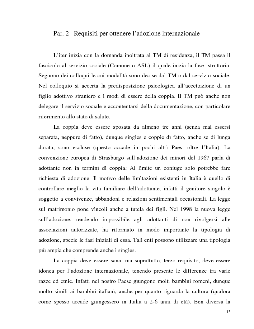 Anteprima della tesi: Adozione internazionale: Italia e nuova Zelanda a confronto, Pagina 11