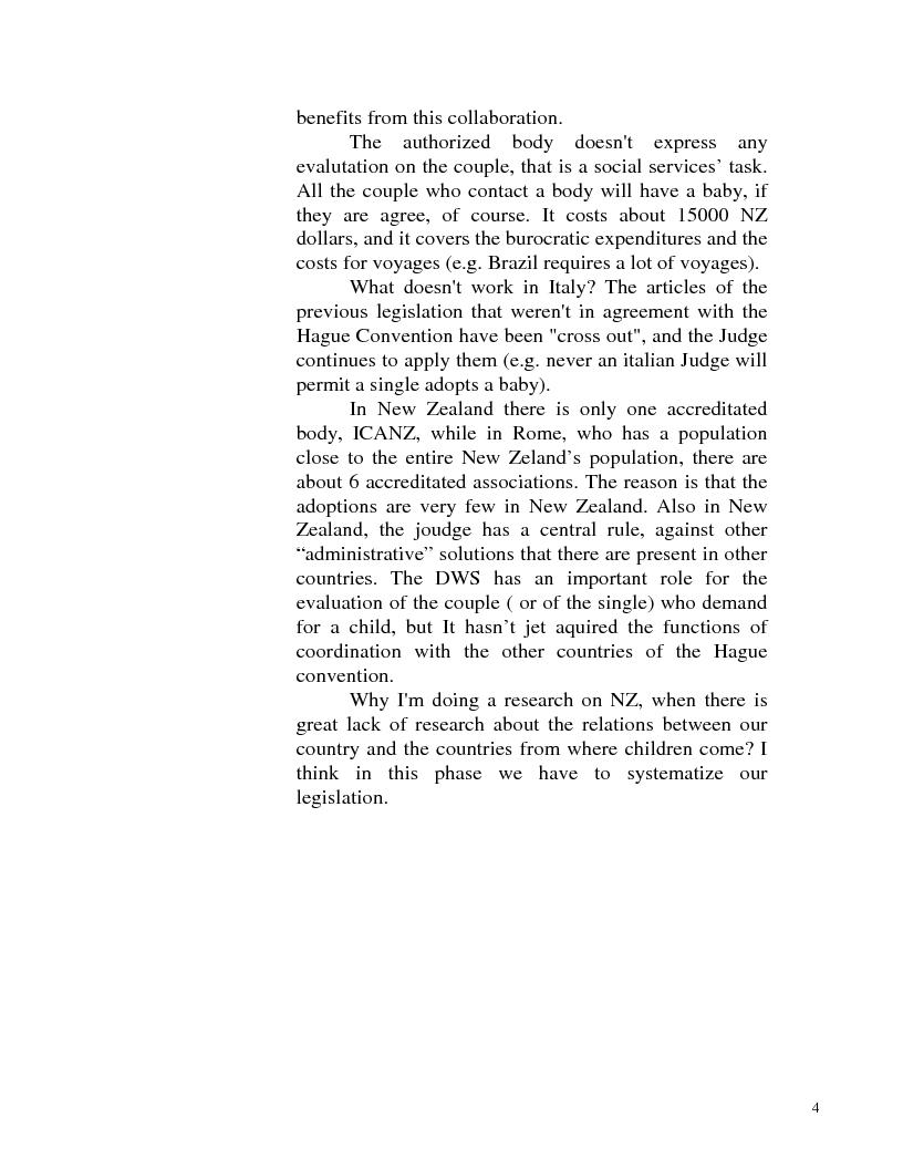Anteprima della tesi: Adozione internazionale: Italia e nuova Zelanda a confronto, Pagina 2