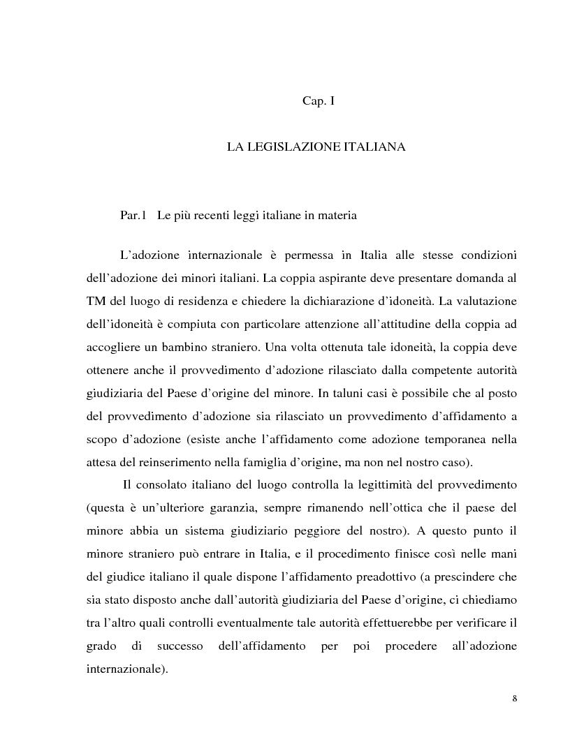 Anteprima della tesi: Adozione internazionale: Italia e nuova Zelanda a confronto, Pagina 6