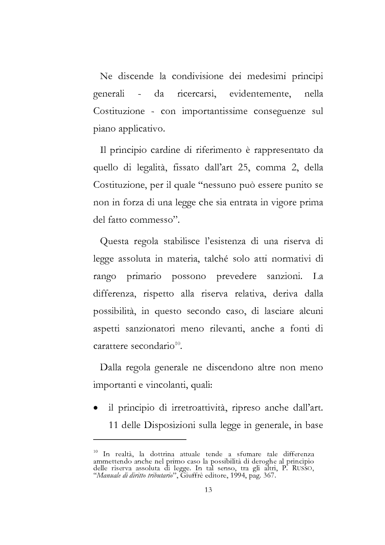 Anteprima della tesi: Sanzioni amministrative tributarie e principio di personalità, Pagina 11