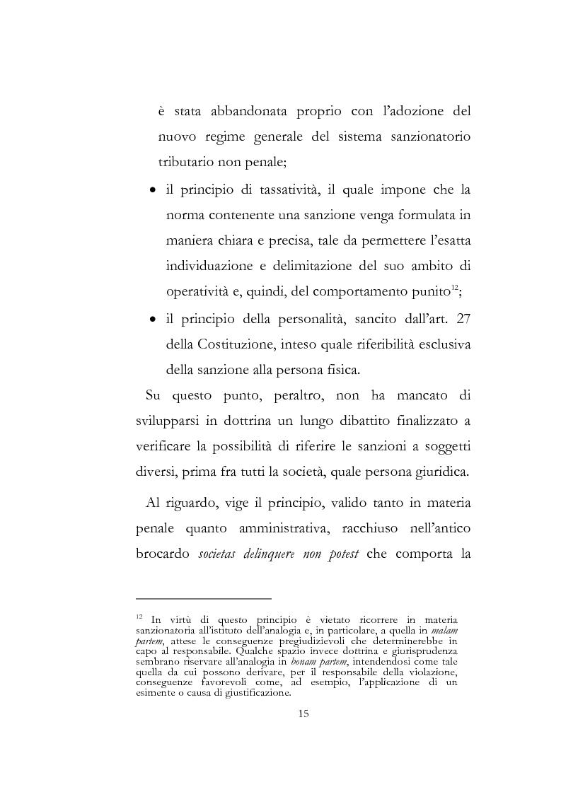 Anteprima della tesi: Sanzioni amministrative tributarie e principio di personalità, Pagina 13