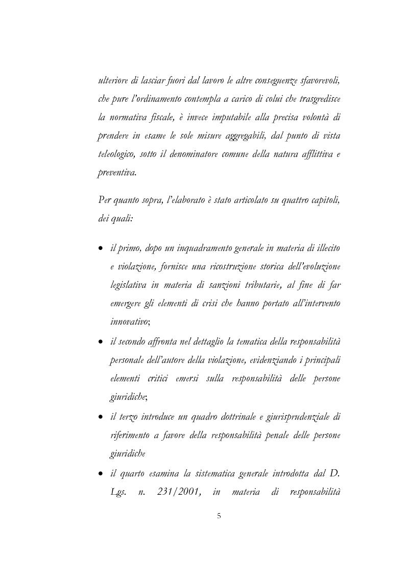 Anteprima della tesi: Sanzioni amministrative tributarie e principio di personalità, Pagina 3