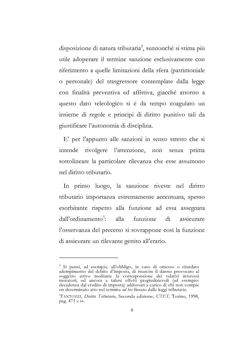 Anteprima della tesi: Sanzioni amministrative tributarie e principio di personalità, Pagina 6