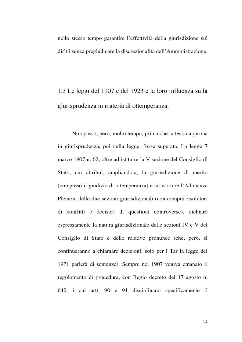 Anteprima della tesi: L'ottemperanza alle decisioni del giudice amministrativo dopo la legge n. 205 del 2000, Pagina 11