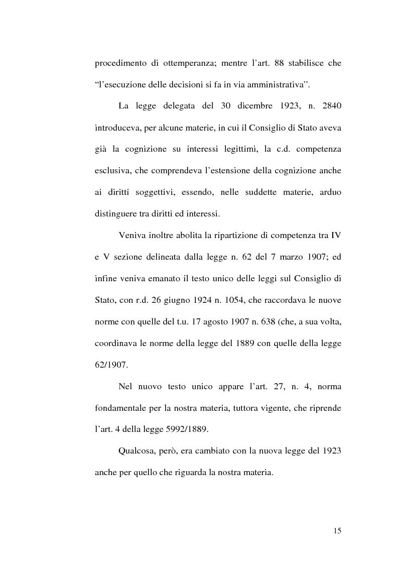 Anteprima della tesi: L'ottemperanza alle decisioni del giudice amministrativo dopo la legge n. 205 del 2000, Pagina 12