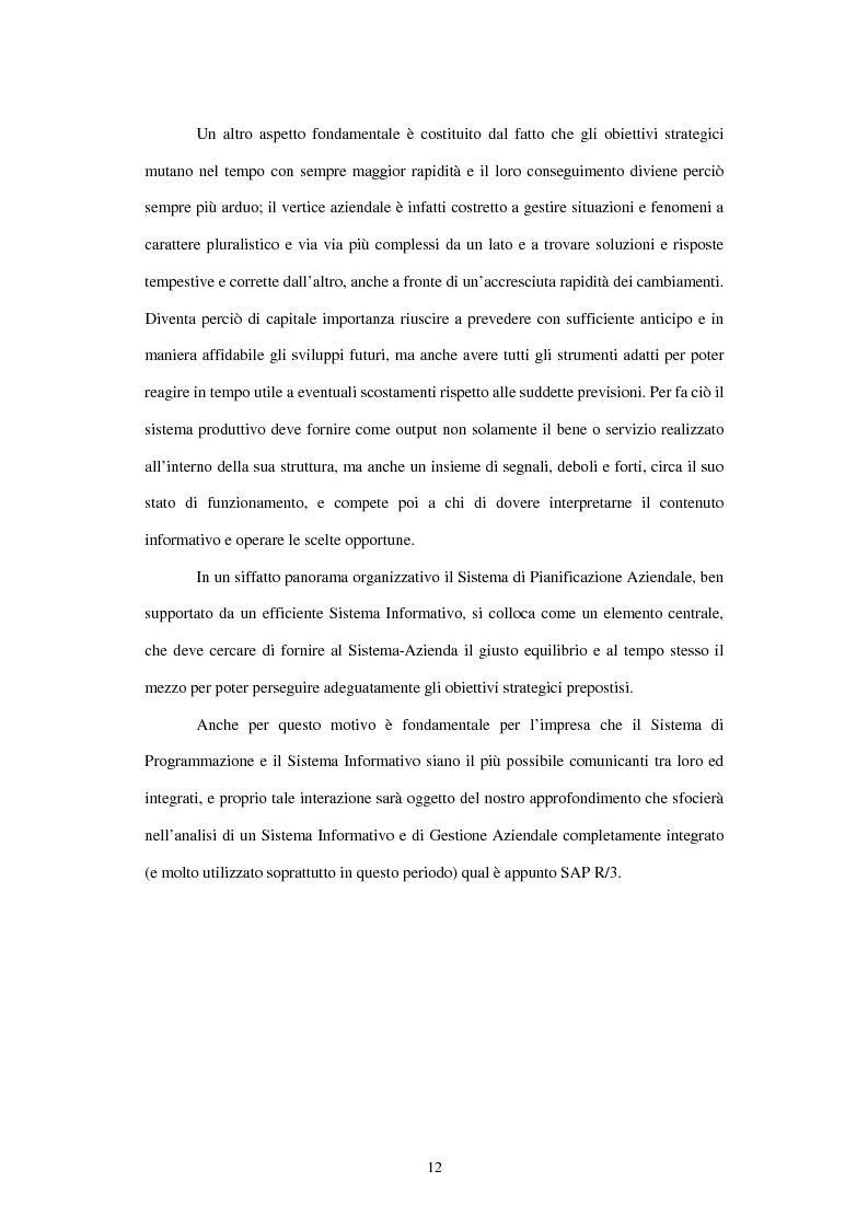 Anteprima della tesi: L'utilizzo del sistema informativo Sap R/3 per la programmazione e il controllo della produzione industriale: training e formazione del personale, Pagina 6