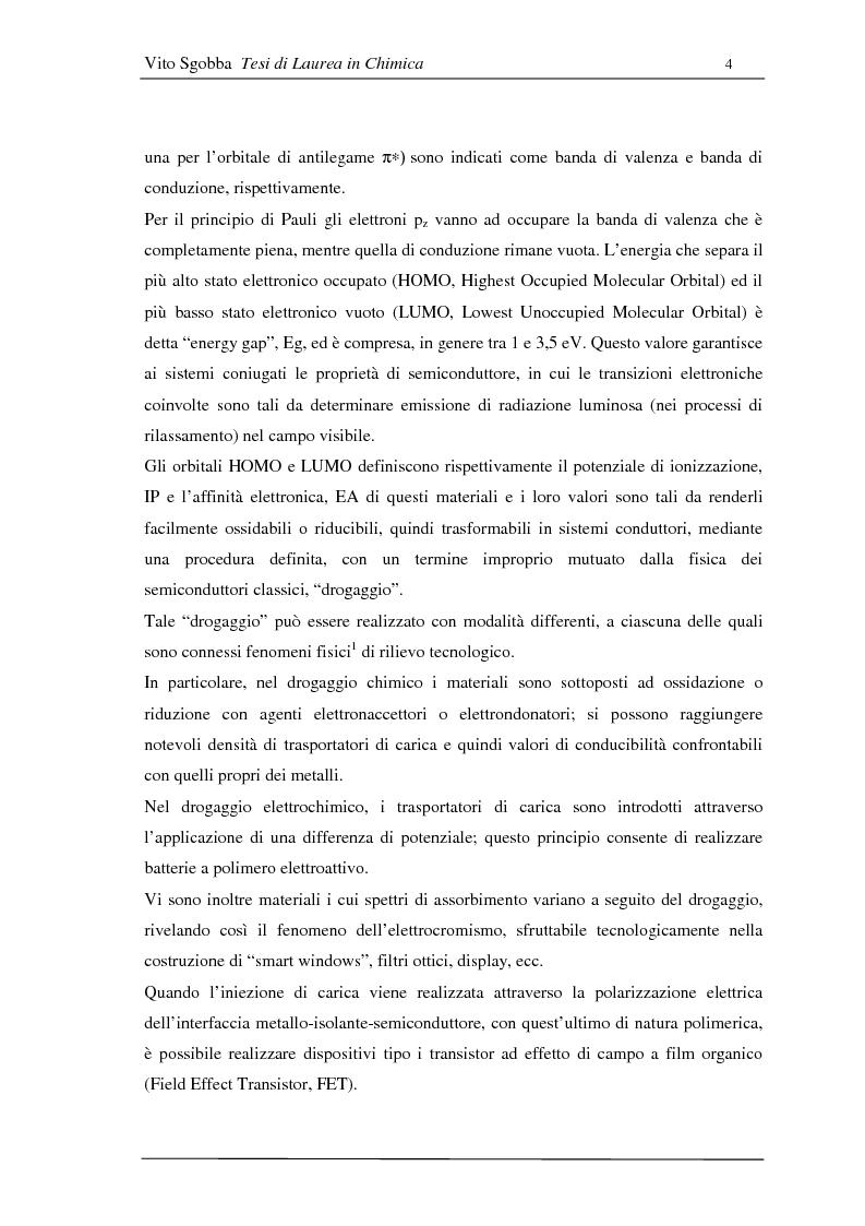 Anteprima della tesi: Metodologie di funzionalizzazione di composti organici coniugati: sintesi di sistemi modello, Pagina 3
