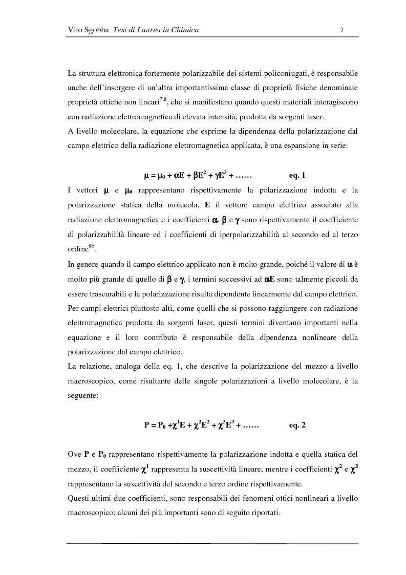 Anteprima della tesi: Metodologie di funzionalizzazione di composti organici coniugati: sintesi di sistemi modello, Pagina 6