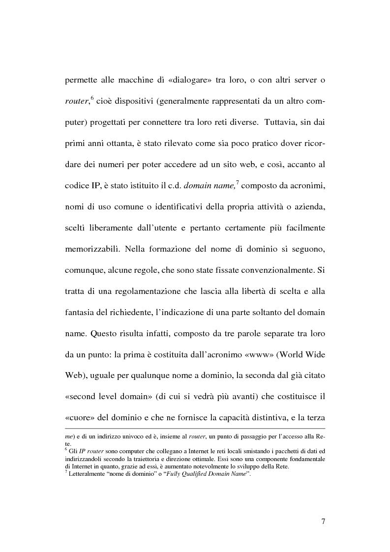 Anteprima della tesi: La tutela del nome di dominio, Pagina 10
