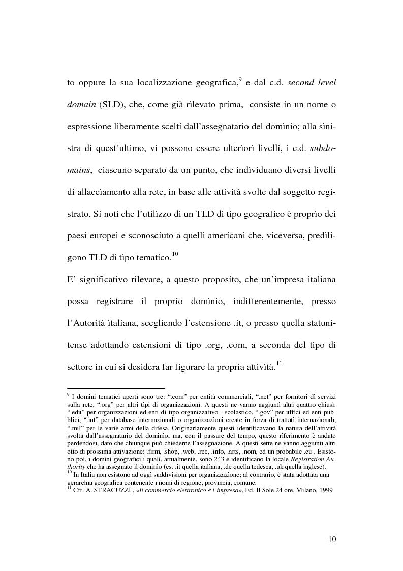 Anteprima della tesi: La tutela del nome di dominio, Pagina 13