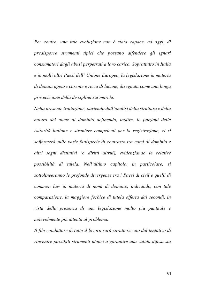 Anteprima della tesi: La tutela del nome di dominio, Pagina 2