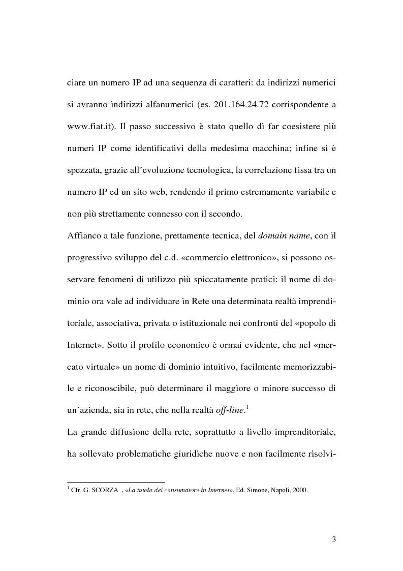 Anteprima della tesi: La tutela del nome di dominio, Pagina 6