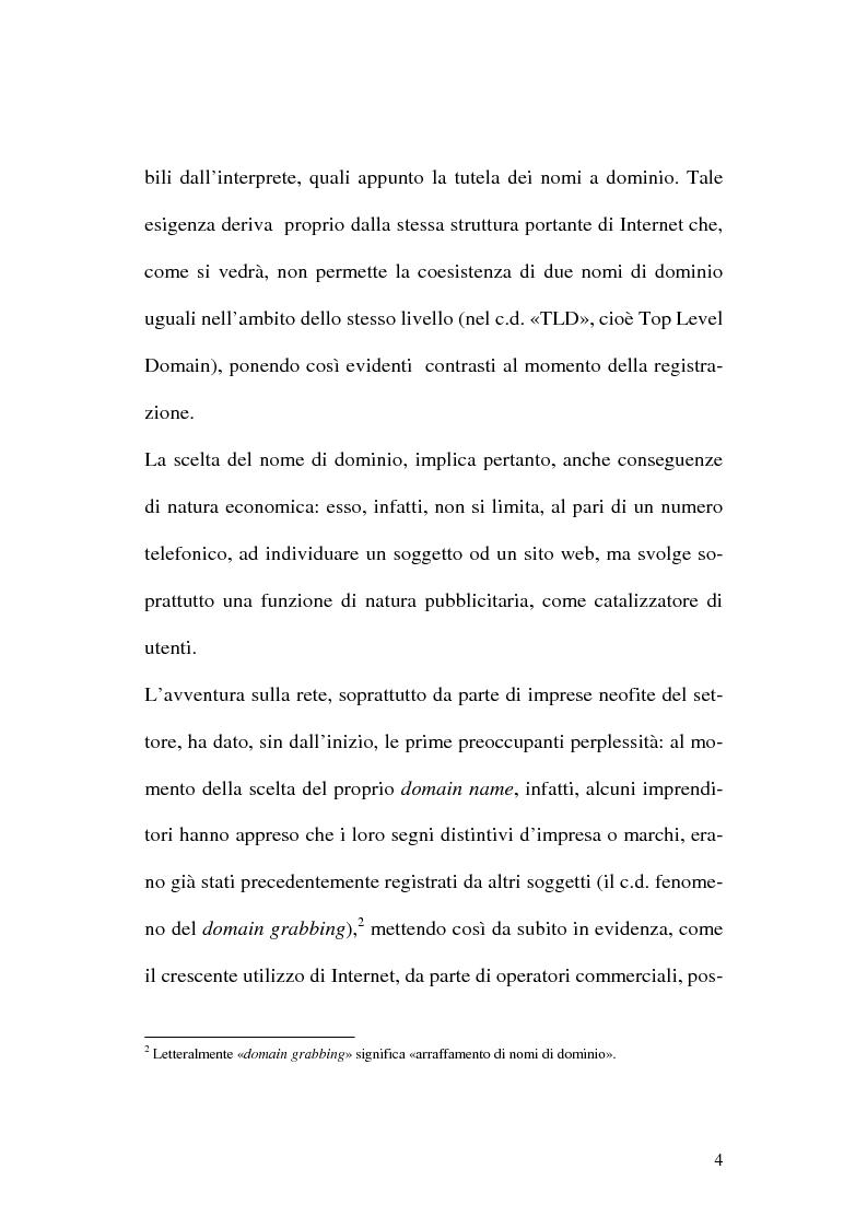 Anteprima della tesi: La tutela del nome di dominio, Pagina 7