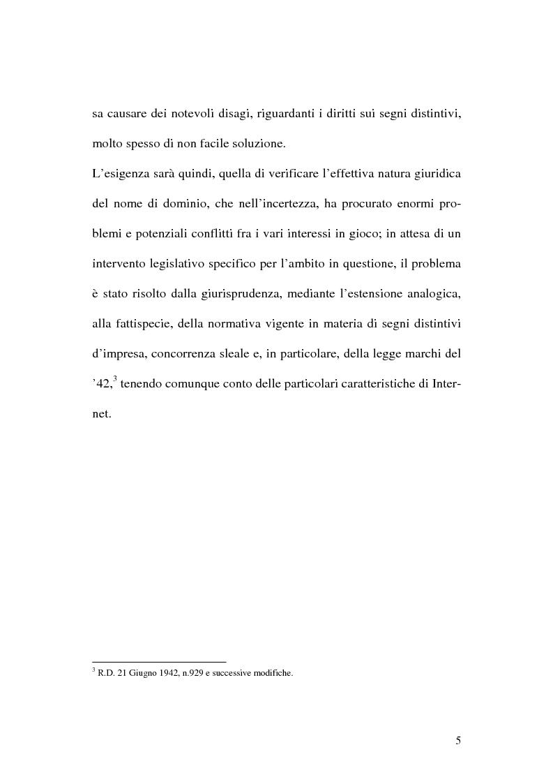 Anteprima della tesi: La tutela del nome di dominio, Pagina 8
