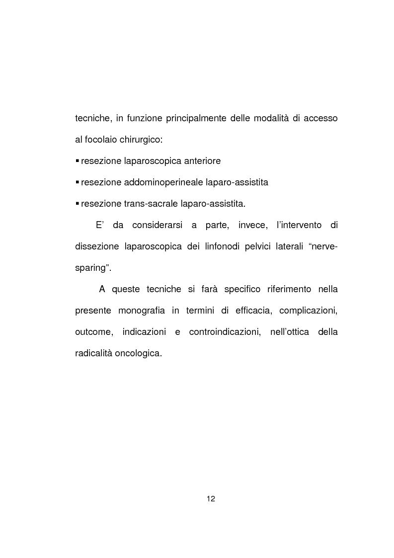 Anteprima della tesi: La chirurgia laparoscopica del cancro del retto, Pagina 10