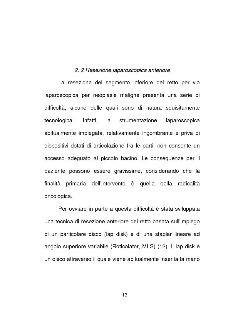 Anteprima della tesi: La chirurgia laparoscopica del cancro del retto, Pagina 11