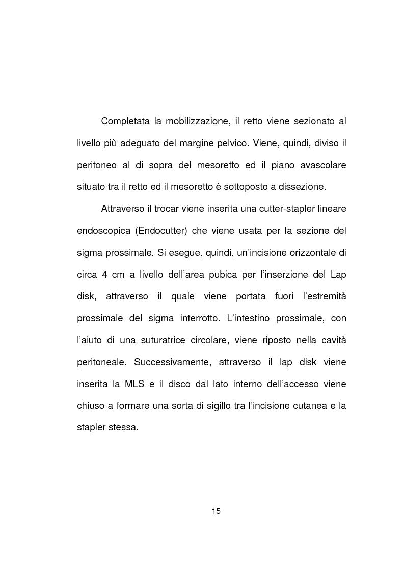 Anteprima della tesi: La chirurgia laparoscopica del cancro del retto, Pagina 13