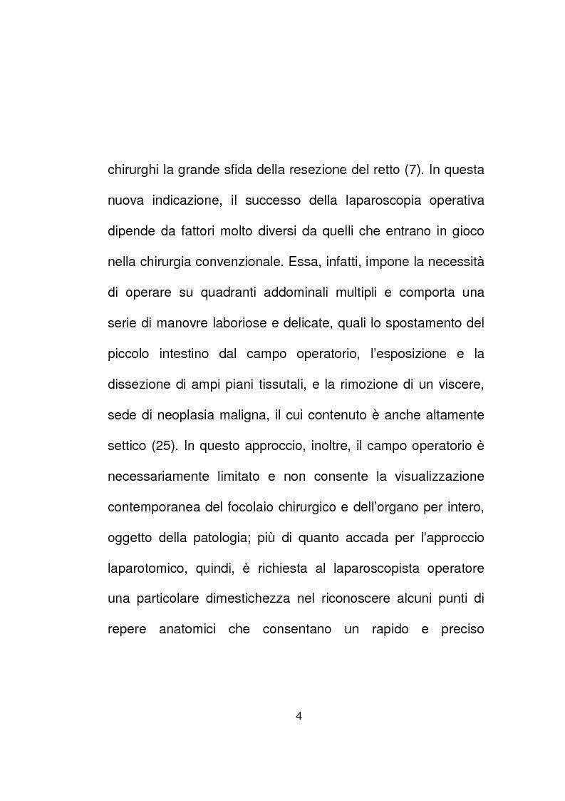Anteprima della tesi: La chirurgia laparoscopica del cancro del retto, Pagina 2