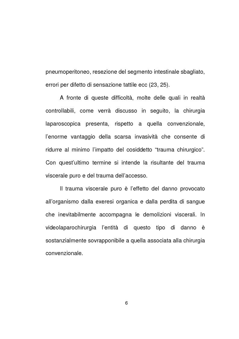 Anteprima della tesi: La chirurgia laparoscopica del cancro del retto, Pagina 4