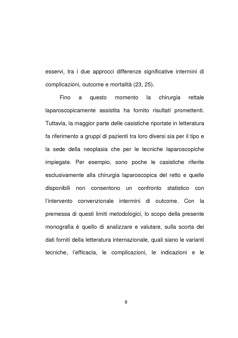 Anteprima della tesi: La chirurgia laparoscopica del cancro del retto, Pagina 7