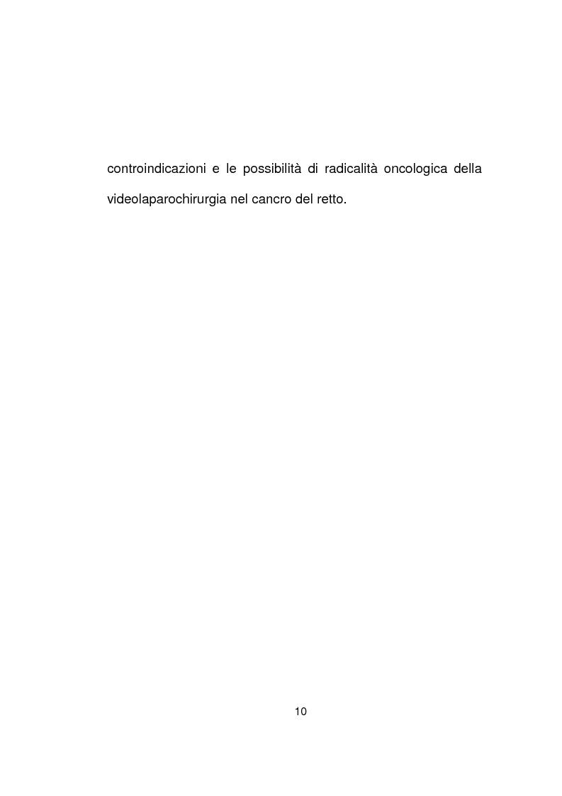 Anteprima della tesi: La chirurgia laparoscopica del cancro del retto, Pagina 8